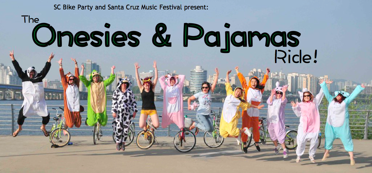 Daytime Bike Party: Onesies & PJ's! Sat, March 10th 1-3PM
